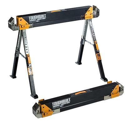 TOUGHBUILT TB-C700 32 in. tall Adjustable Folding Table Saw Horse