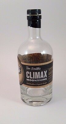 Tim Smith Moonshine Climax EMPTY CLEAR BOTTLE Virginia Distilled Alcohol TV VA