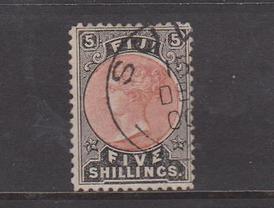 Fiji 1882 Dull Red And Black Used