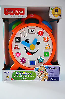 Fisher Price Laugh & Learn Counting Colors Clock Songs Musical Cdk06 New