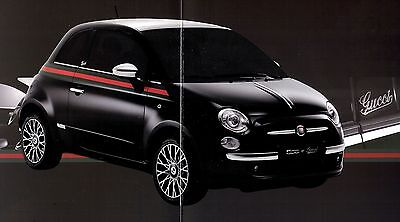 "2012 - FIAT 500 ""Gucci"" - special edition - French sales brochure, prospekte"
