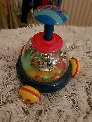 Musical boo! Spinning top. Toy