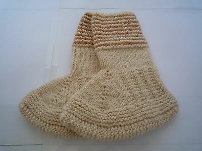 Knitted Wool House Socks House Shoes Slippers Hand Made UK 1-4, EUR 33-37