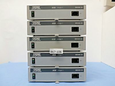 Karl Storz 22200020 SCB Image 1 Console, Endoscopy camera processors Lot of 5