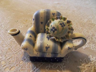 Novelty Miniature Chair Country Chinz Teapot