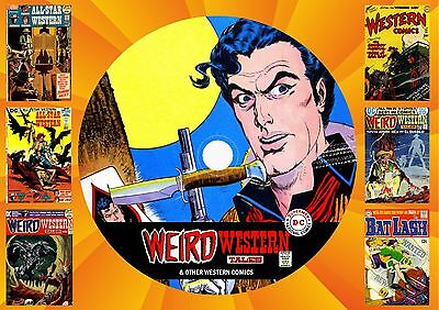Weird Western + All Star Western Comics & More On Printed Dvd Rom