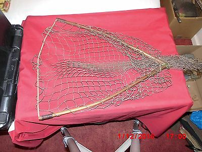 Vintage Wooden Fishing Net Head. Stamped with Patent.