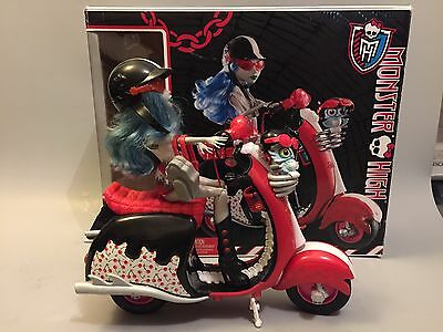 MONSTER HIGH GHOULIA YELPS : poupée + scooter + accessoires