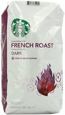 Starbucks French Roast Whole Bean Coffee 40-Ounce