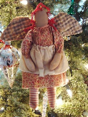 Primitive Raggedy Ann Doll Christmas Ornament, SWEET!