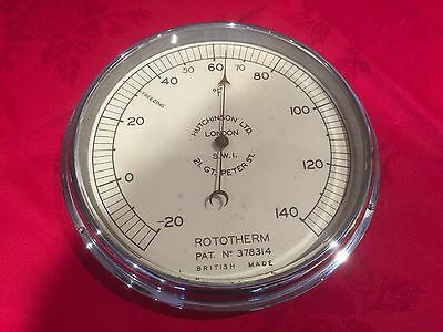 Vintage 1930's Wall Mounting Thermometer Rototherm 18cm 7 Inch Fully Working