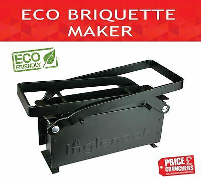 ECO Paper Log Briquette Maker Old Newspaper Recycle Block Fire Fuel Free Small