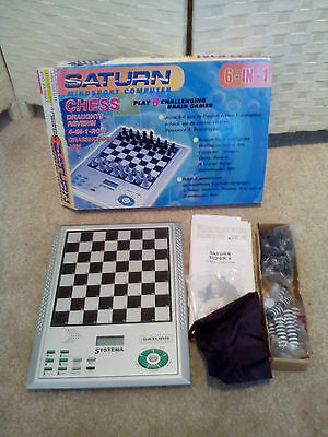 Systema Saturn Mindsport Computer. 6 in 1 - Chess, Draughts etc- Complete - VGC