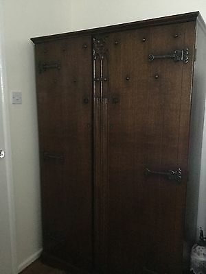 Two oak wardrobe and Dressing Table With Mirror.