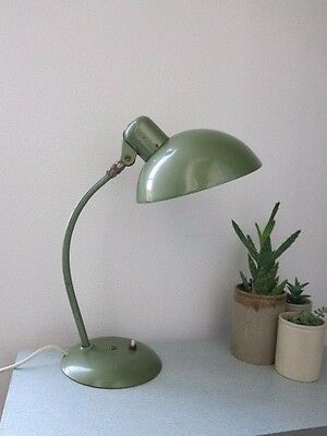 Vintage MCM Industrial Green 20th Century Modernist Desk Lamp Bauhaus