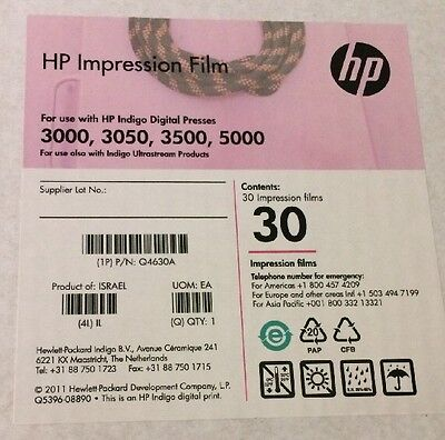 HP Impression Film for use with HP indigo Digital Press P/N: Q4630A