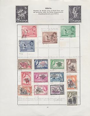 GHANA 1957-64 12 album pages mint & used