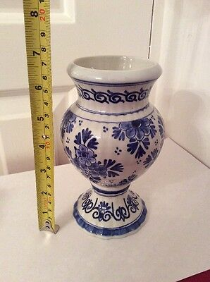 Vintage Blue & White Delft Ware Hand Painted Bud / Posy Vase