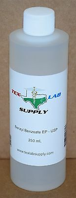 Tex Lab Supply Benzyl Benzoate NF-FCC/EP-USP 250 mL