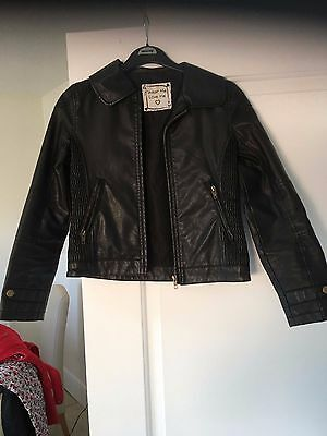 girls leather look jacket