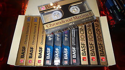 10 + 1 BASF Chrome&Reference Maxima II 90 Cassetten OVP in BASF Box sealed   ©