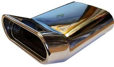 Mazda 2 230X160X65MM OVAL POSTBOX EXHAUST TIP TAIL PIPE CHROME WELD ON