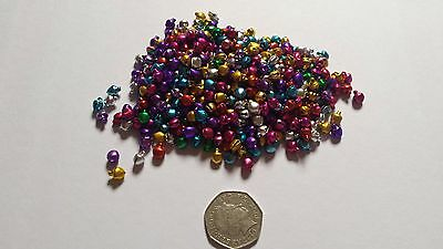 Mixed colour metal bell charms/beads - 38g - Cardmaking/jewellery/crafts