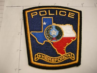 Hereford Police Dept Hfpd Here Ford Rwb City State Shape Of Colorful Texas Patch