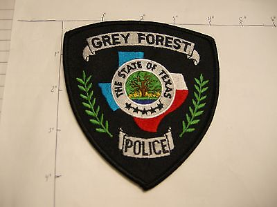 Grey Forest Police Dept Gfpd Gray Rwb City State Shape Of Colorful Texas Patch