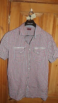 Mens Levi's checked short seleve shirt size XL