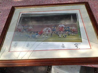 Wembley Warriors Silk Cut Challenge Stephen Doig Limited Edition Print Signed