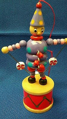 Coyne's & Company  Push Puppet Clown Ornament 2005
