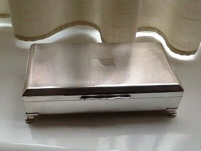 Superb Vintage Aristocrat Silver Plated Footed Box