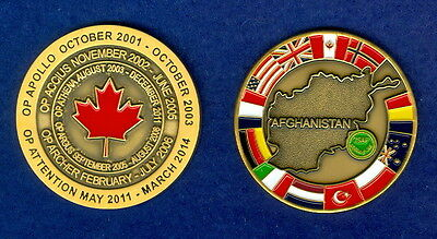 Canadian military  Afghanistan Challenge coin