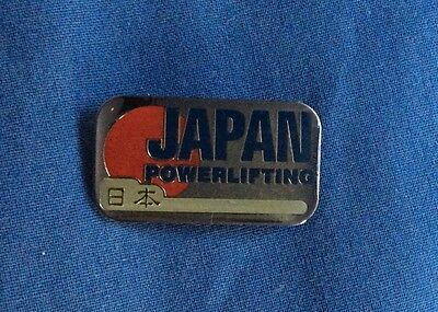 Rio 2016 Olympics Japan powerlifting association pin