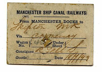 Manchester Ship Canal 1899 wagon label