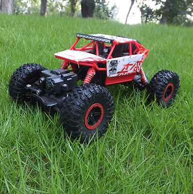 ROCK CRAWLER 2.4GHz RADIO REMOTE CONTROL TRUCK CAR RED 4WD RC 1/18 - UK STOCK