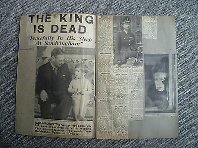 Scrap Book Of The Death Of King Vi  5 February 1952