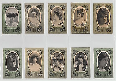 WILLS OVERSEAS SET: ACTRESSES (Four Colours Surround) 1904