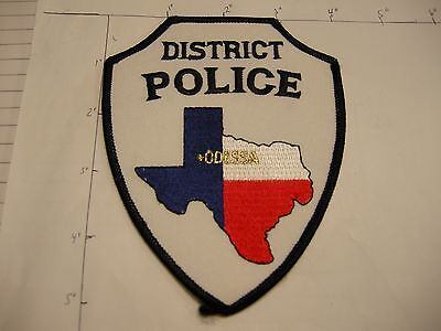 Odessa District Police Dept Odpd Rwb Odes Essa State Shape Colorful Texas Patch