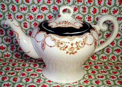 Art Nouveau VINTAGE China MYOTT Teapot 'ROSEMARY' Floral HAND PAINTED Very Rare
