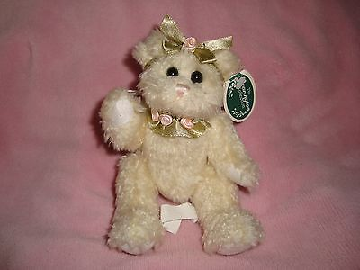 """Hope Jr The Bearington Collection Angel Bear Jointed Plush Ornament 6.5"""" tall"""