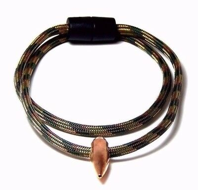 Sniper Hog Tooth Necklace Recon Paracord  Break Away Barrel Clasp Handmade, Usa