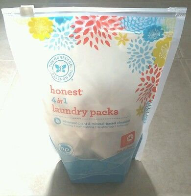 The Honest Company Honest 4 in 1 Laundry Packs - Free and Clear - 50 Count