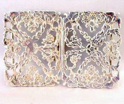 Solid Silver rectangular BELT BUCKLE 1988 Quality