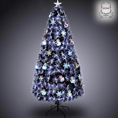 CLEARANCE: 1.8m 6ft Slim Black Artificial Christmas Tree for Home/Shops/Office