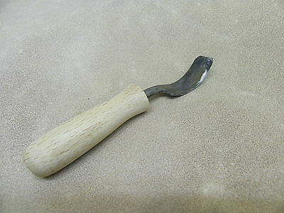 anglo saxon viking roman medieval shallow spoon gouge right handed reenactment