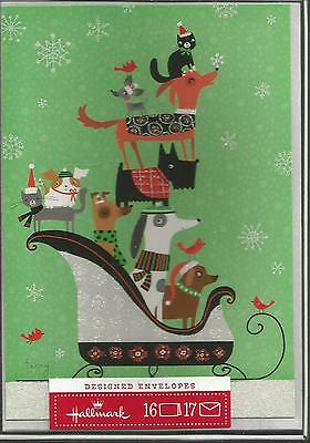 Dogs And Cats Christmas Cards - 16 Cards And Envelopes Brand New