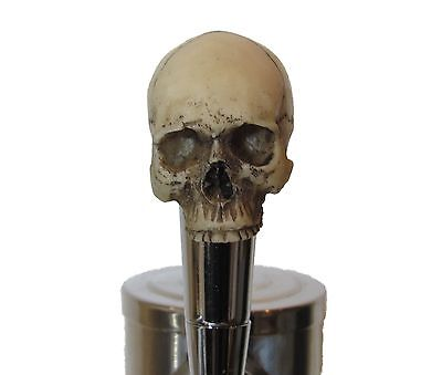 No Jaw Skull Beer Tap Handle Sports Bar Kegerator Resin Zombie Breweriana Custom