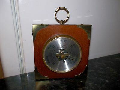 Barometer Wood And Brass